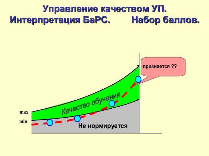 Управление качеством УП. Интерпретация БаРС.