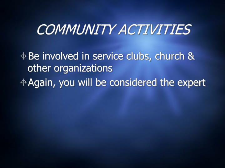 COMMUNITY ACTIVITIES
