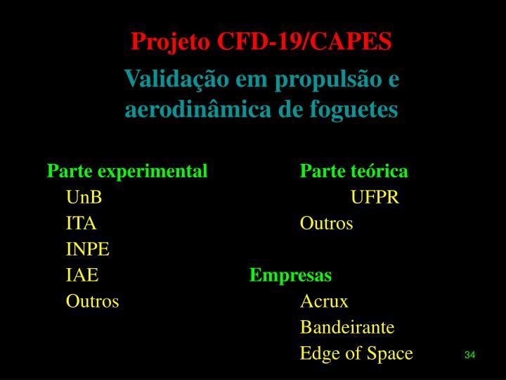 Projeto CFD-19/CAPES