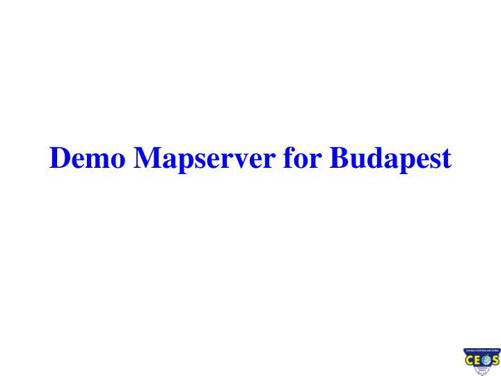 Demo Mapserver for Budapest