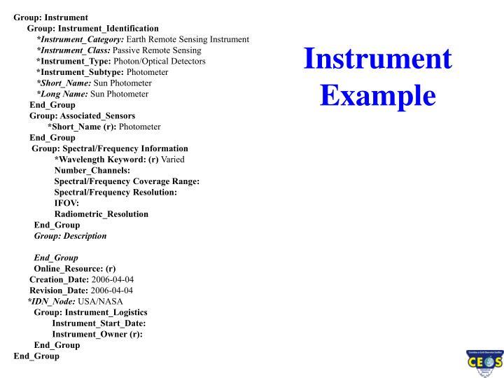 Instrument Example