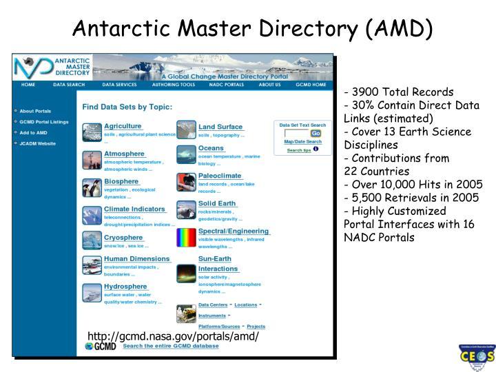 Antarctic Master Directory (AMD)