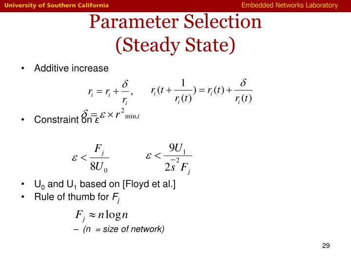 Parameter Selection