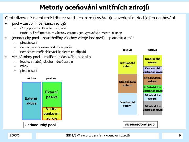 Metody oceňování vnitřních zdrojů