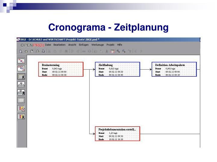 Cronograma - Zeitplanung
