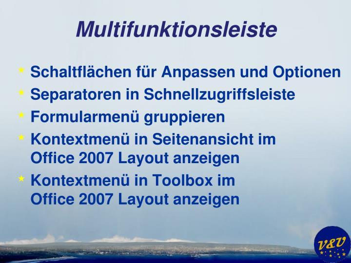 Multifunktionsleiste