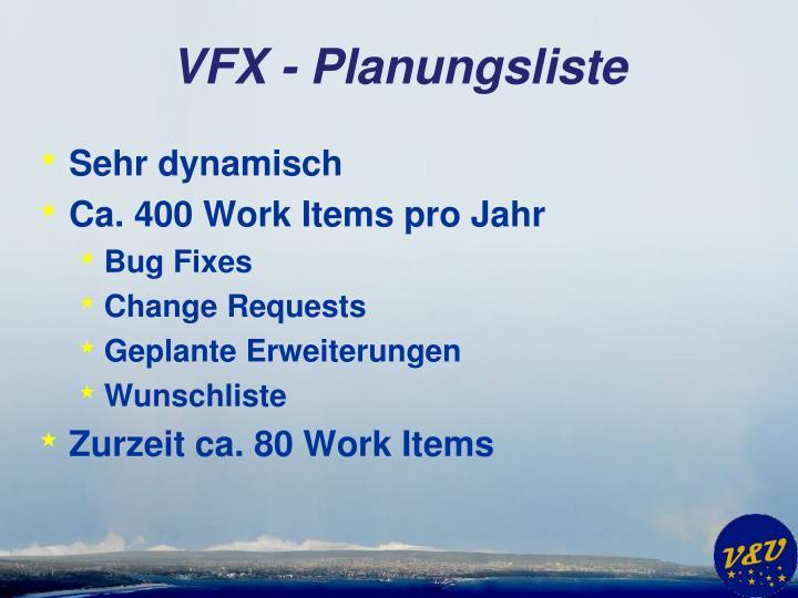 VFX - Planungsliste