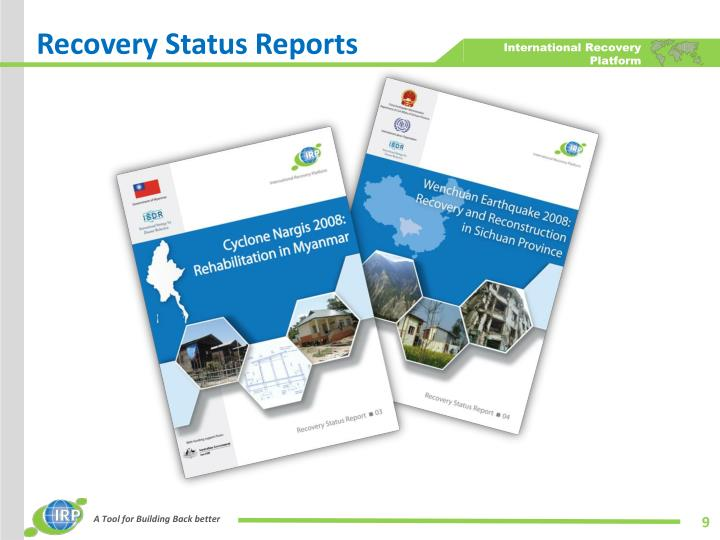 Recovery Status Reports