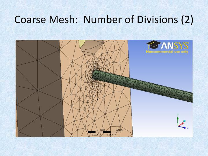 Coarse Mesh:  Number of Divisions (2)