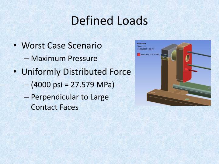 Defined Loads