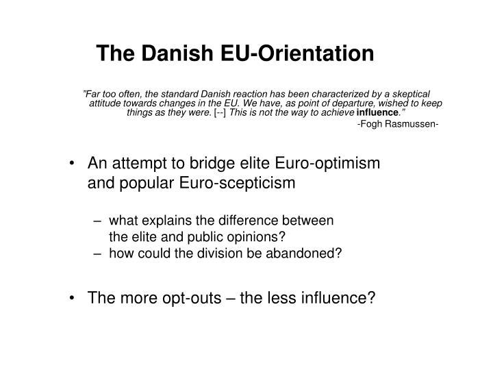 The Danish EU-Orientation