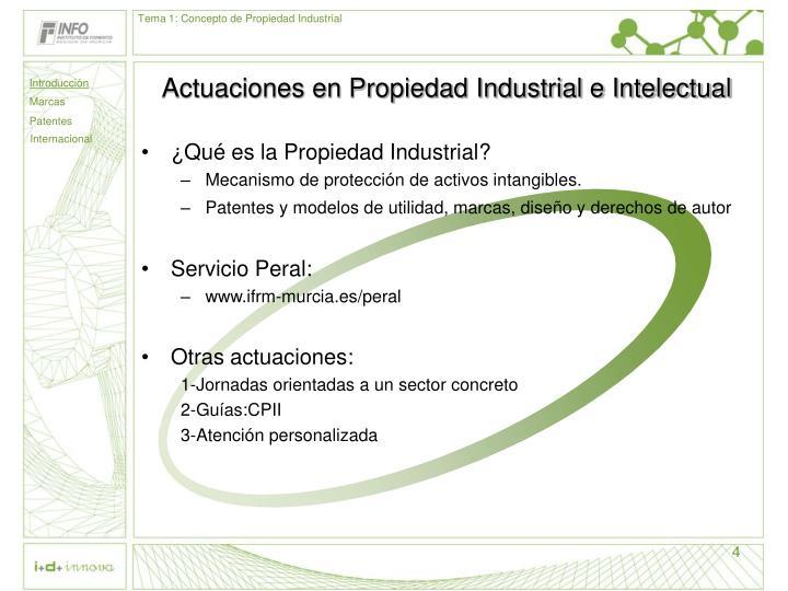Tema 1: Concepto de Propiedad Industrial