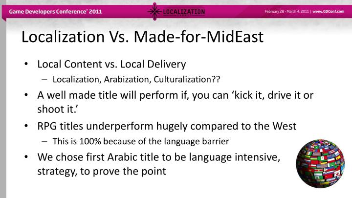 Localization Vs. Made-for-MidEast