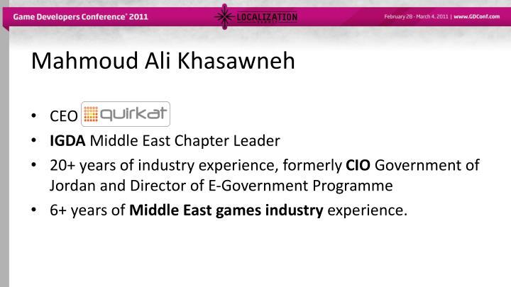 Mahmoud Ali Khasawneh