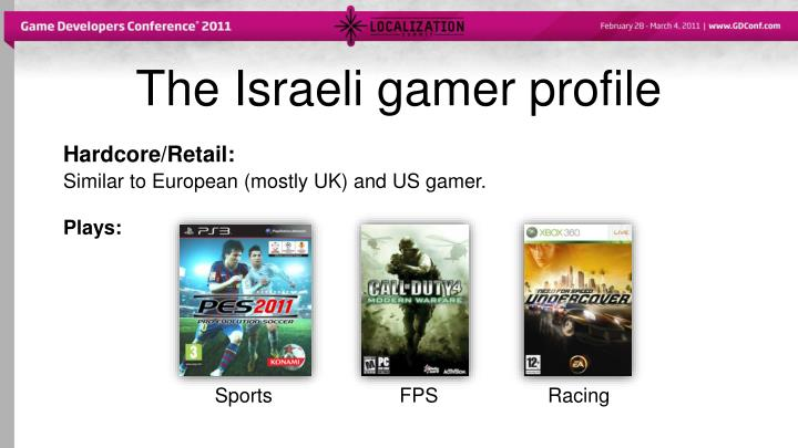The Israeli gamer profile