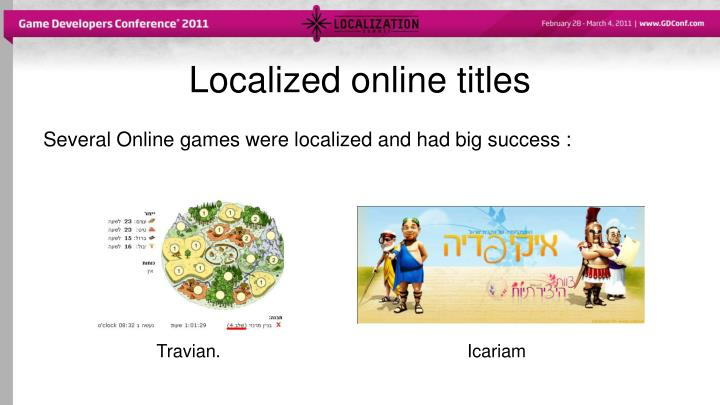 Localized online titles