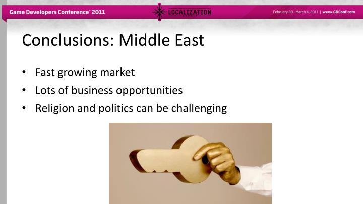 Conclusions: Middle East