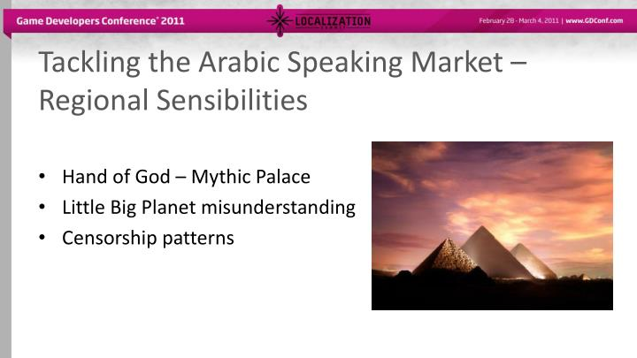 Tackling the Arabic Speaking Market – Regional Sensibilities