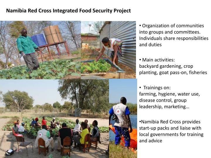 Namibia Red Cross Integrated Food Security Project