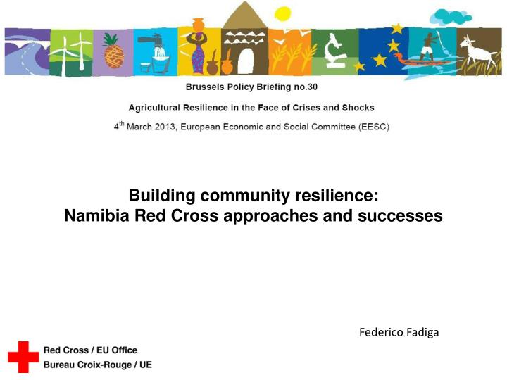 Building community resilience: