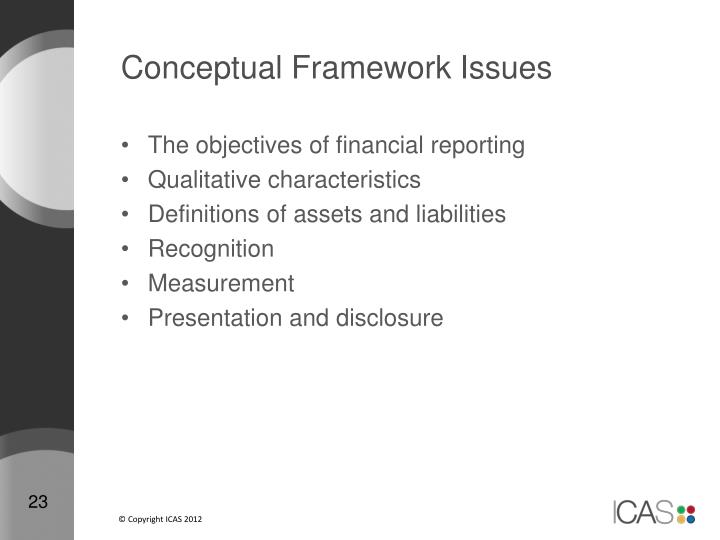 Conceptual Framework Issues