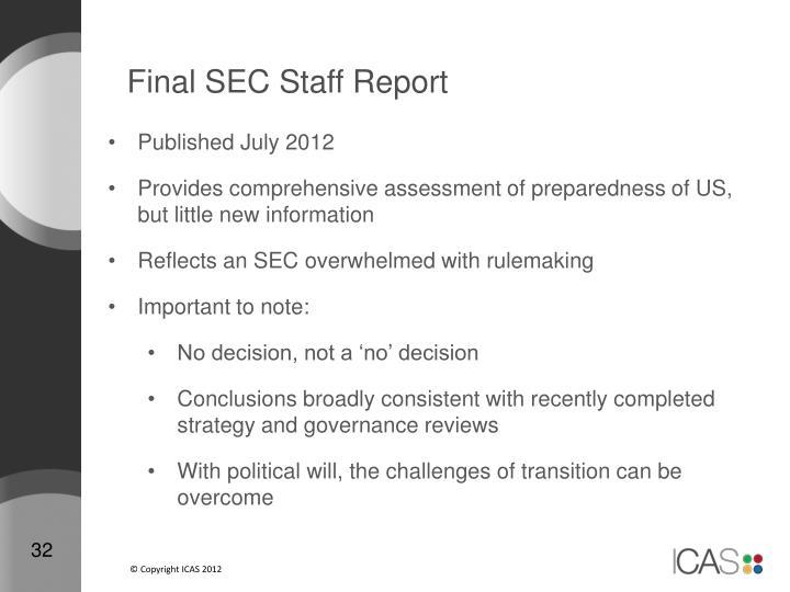 Final SEC Staff Report