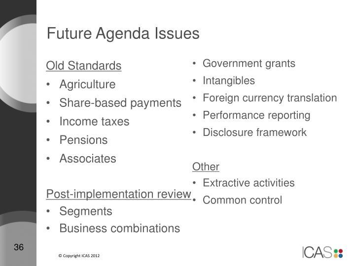 Future Agenda Issues