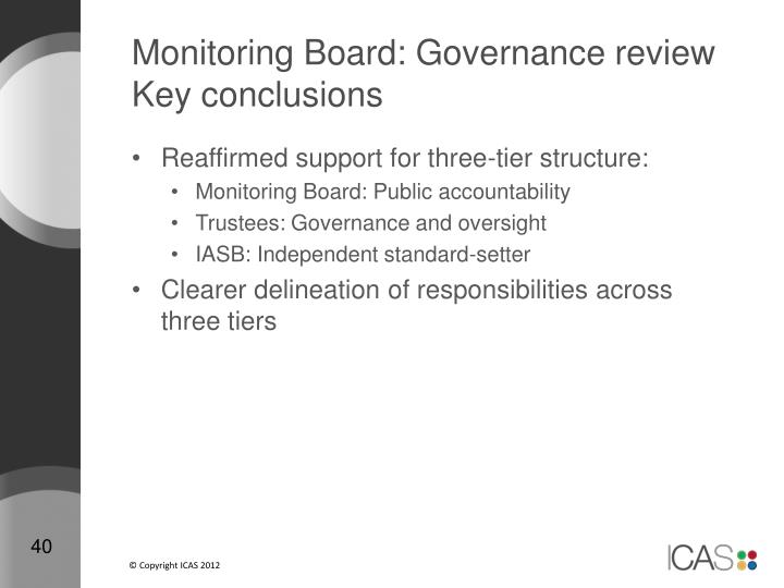 Monitoring Board: Governance review