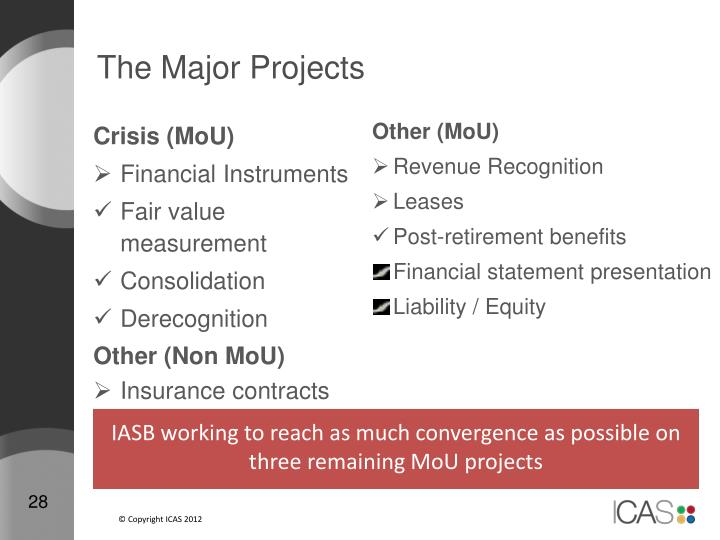 The Major Projects