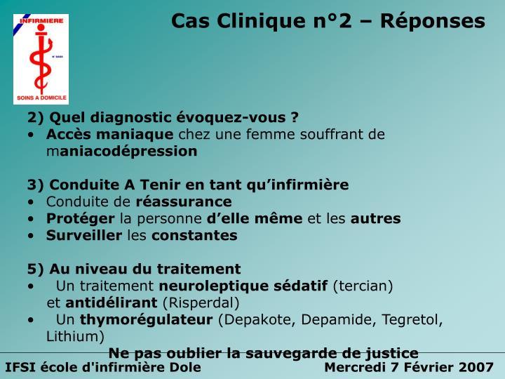 Cas Clinique n°2 – Réponses