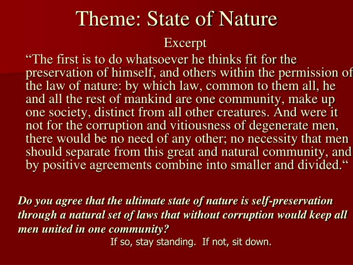 Theme: State of Nature