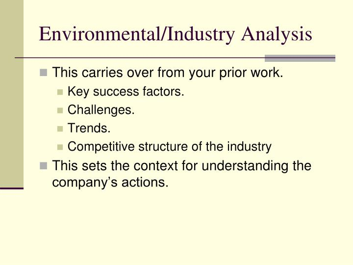 Environmental industry analysis
