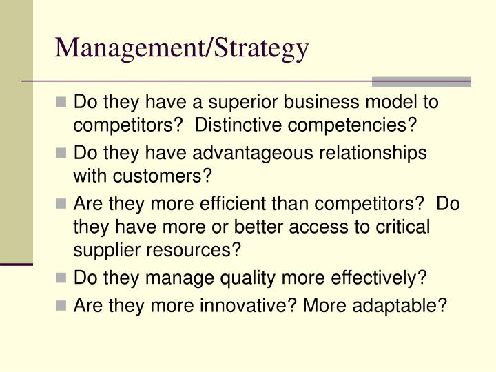 Management/Strategy