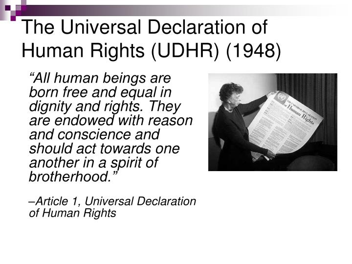declaration of human rights The universal declaration of human rights (udhr) is a historic document that was adopted by the united nations general assembly at its third session on 10 december 1948 as resolution 217 at the palais de chaillot in paris, france of the then 58 members of the united nations,.