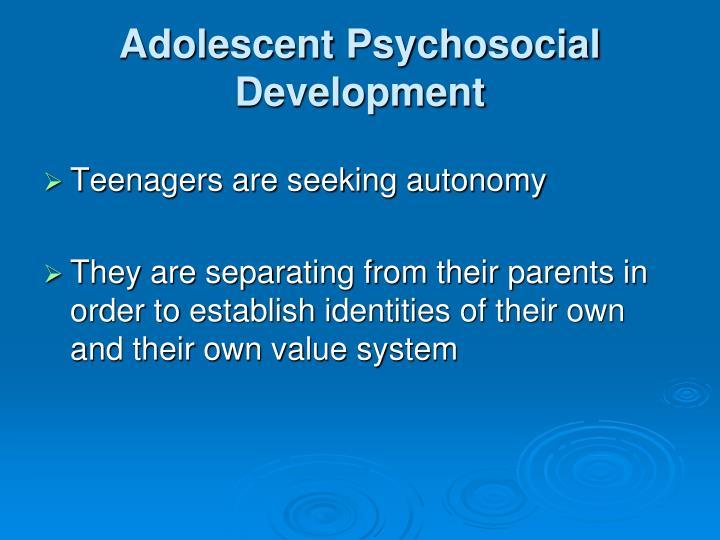 Adolescent Psychosocial Development