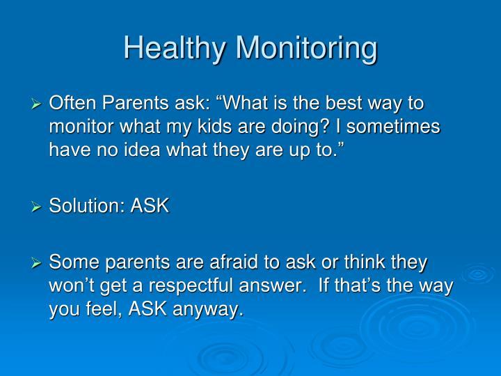 Healthy Monitoring