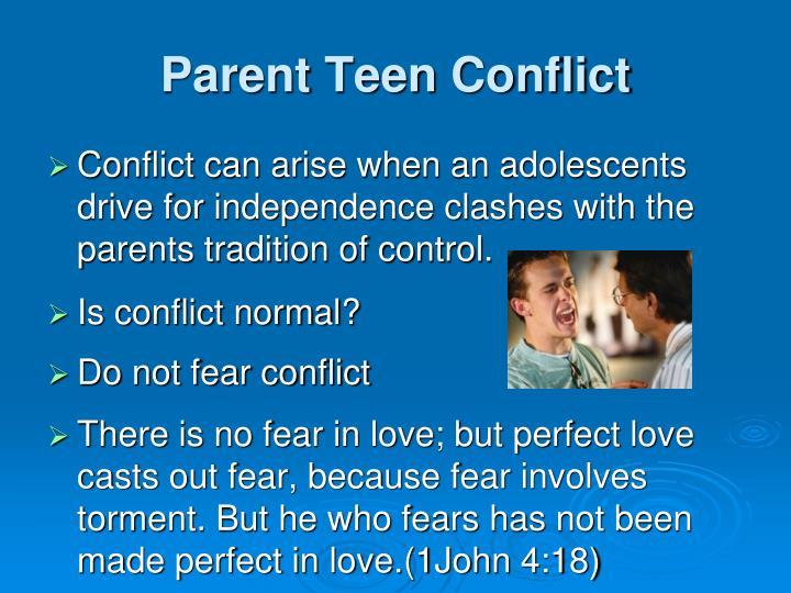 Parent Teen Conflict