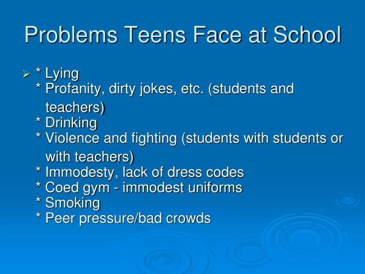 Problems Teens Face at School