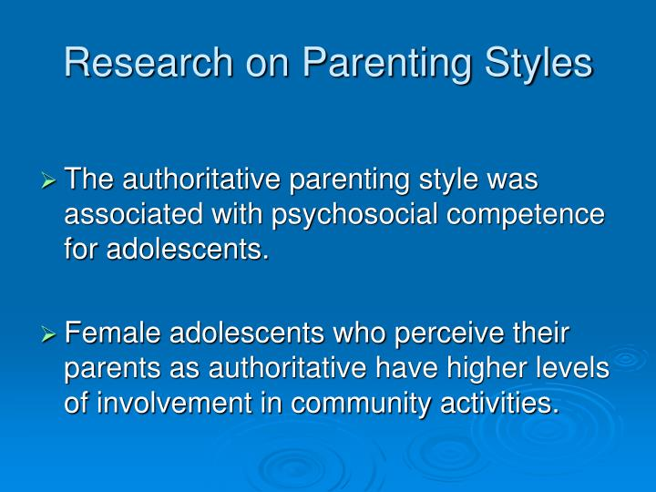Research on Parenting Styles