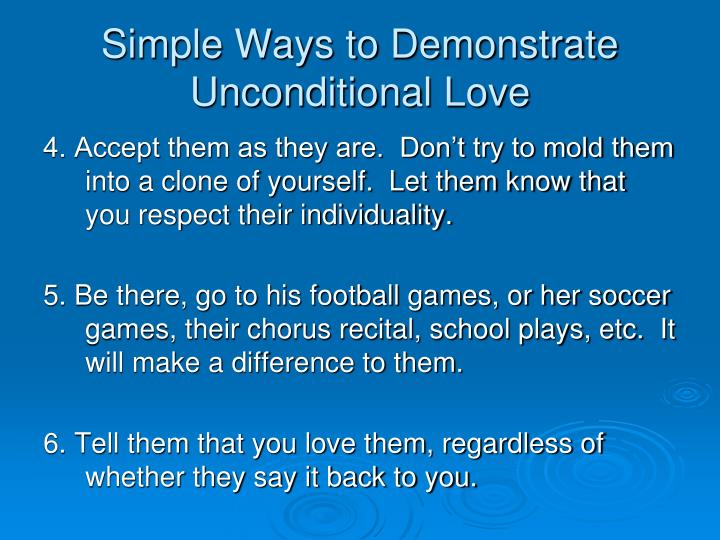 Simple Ways to Demonstrate Unconditional Love