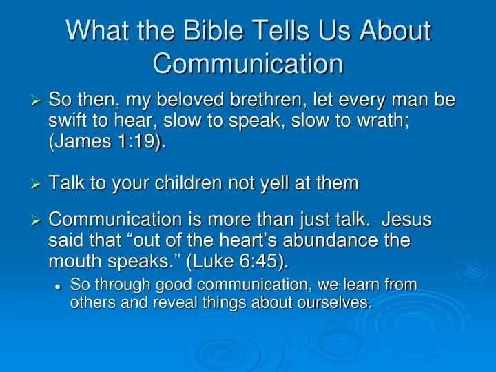 What the Bible Tells Us About Communication