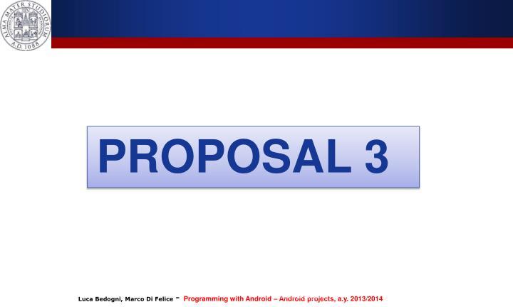 PROPOSAL 3