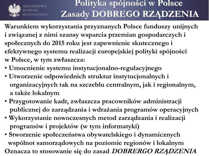 Polityka spójności w Polsce