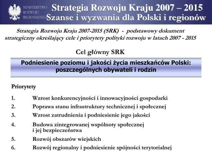 Strategia Rozwoju Kraju 2007 – 2015