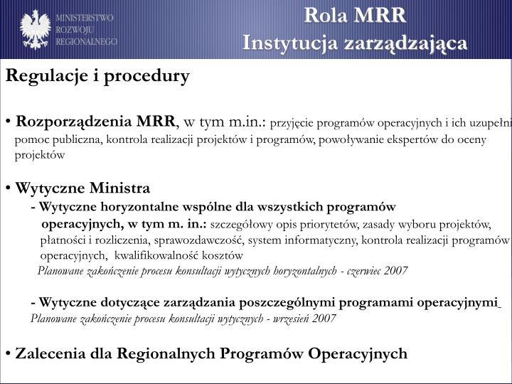Rola MRR