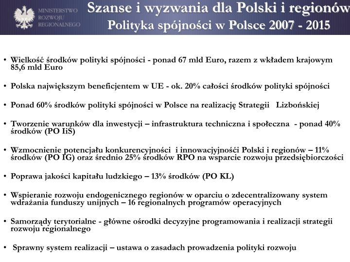 Szanse i wyzwania dla Polski i regionów