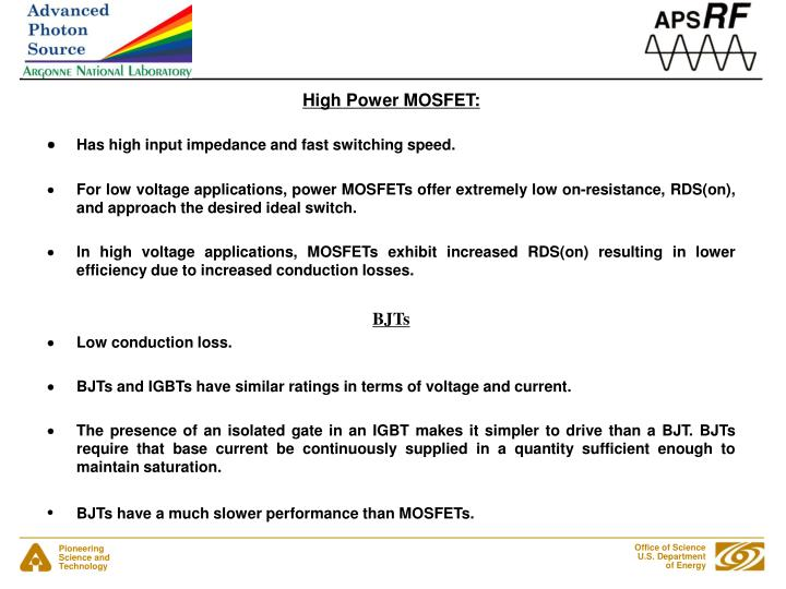 High Power MOSFET:
