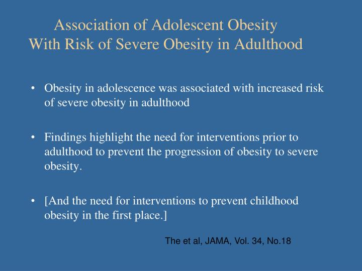 Association of Adolescent Obesity