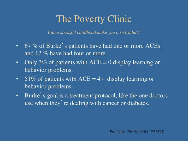 The Poverty Clinic