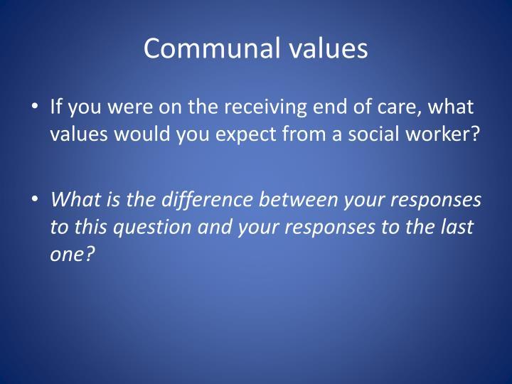 Communal values
